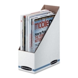 Fellowes Bankers Box Storage/File Magazine File, White - Fiberboard - 1 Pack, Price/EA
