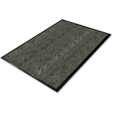 Genuine Joe Golden Series Walk-Off Mat, 6' Length x 4' Width - Vinyl - Charcoal Gray, Price/EA