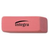 "Integra Medium Beveled End Eraser, Lead Pencil Eraser - Soft, Pliable, Latex-free - 0.8"" x 2"" x 0.4"" - 1 Each - Pink, Price/EA"