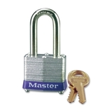 Master Lock Long Shackle Padlock, Keyed Different - Steel Shackle, Price/EA