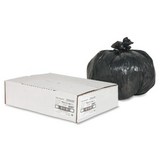 Nature Saver Heavy Duty Recycled Trash Liner, 10 gal - 0.75mil Thickness - Plastic - 500 / Box - Black, Price/BX