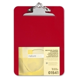 "Nature Saver Recycled Clipboard, 1"" Capacity - 8.5"" x 12"" - Heavy Duty - Plastic - Red, Price/EA"