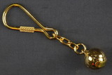 Brass Tennis Ball Key Ring