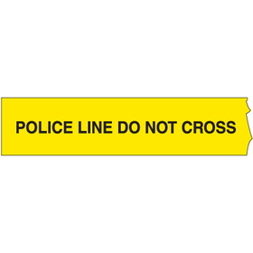Seton 26756 Barricade Tape - Police Line Do Not Cross, Police Line Barricade Tape Roll, Price/Roll