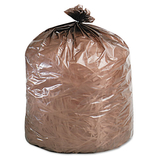 EcoDegradable Bags, Extra Heavy Duty, 39 gallon, 1.1mil, 33 x 44, Brown, 40/ctn, Price/CT