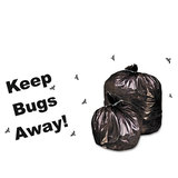 Insect-Repellent Trash Bags, w/Pest-Guard, 30 gal, 2mil, 33 x 40, Black, 90/Ctn, Price/CT