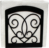 Village Wrought Iron  NH-110  Heart Napkin Hldr, Price/Each