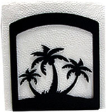 Village Wrought Iron  NH-139  Triple Palm Tree Napkin Hldr, Price/Each
