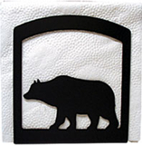 Village Wrought Iron  NH-14  Bear Napkin Holder, Price/Each