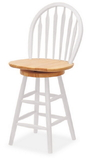 "Winsome 53624 Wood Windsor Swivel Stool, 24"", Single, RTA"