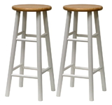 "Winsome 53780 Wood Set of 2, Beveled Seat, 29"" Stool, Assembled"