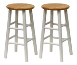 "Winsome 53784 Wood Set of 2, Beveled Seat, 24"" Stool, Assembled"
