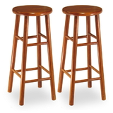 "Winsome 75280 Wood Set of 2, Beveled Seat, 29"" Stool, Assembled"