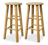 "Winsome 83230 Wood Set of 2, Square Leg 29"" Stool, Assembled"