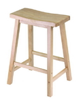 "Winsome 84084 Wood Saddle Seat 24"" Stool, Single, RTA"