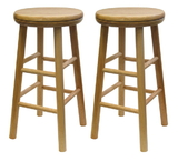 "Winsome 88824 Wood Swivel 24"" Stool, Assembled"