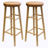 "Winsome 88830 Wood Sest of 2, Swivel 29"" Stool, Assembled"