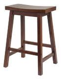 Winsome 94084 Wood Saddle Seat 24&quot; Stool, Single, RTA