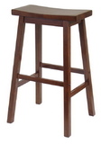 Winsome 94089 Wood Saddle Seat 29&quot; Stool, Single, RTA